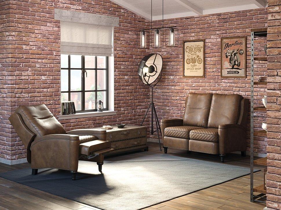 Прямой диван Лютон