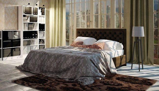 Печать Двуспальная кровать Альба 2
